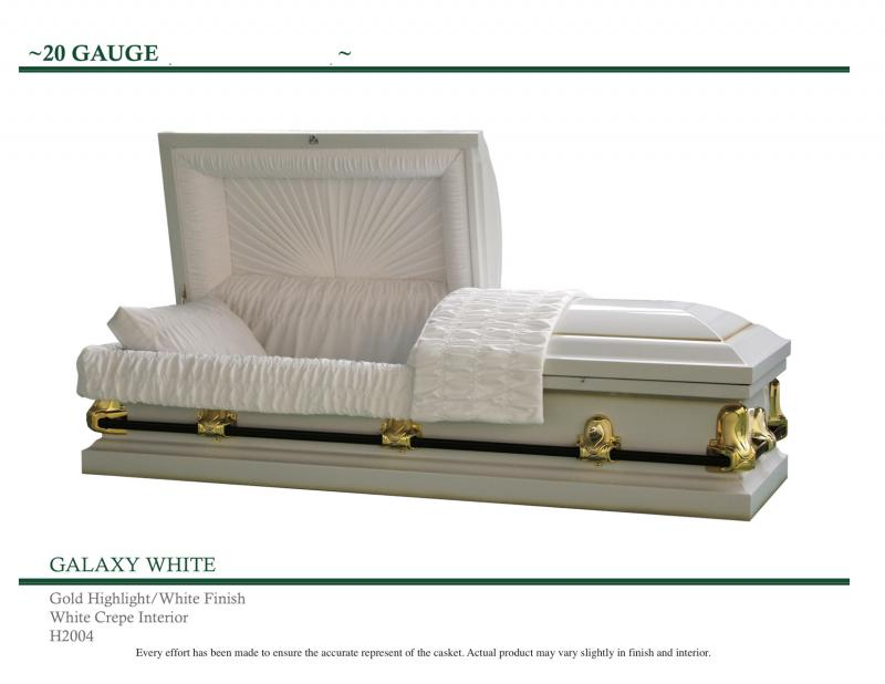 White Galaxy Casket