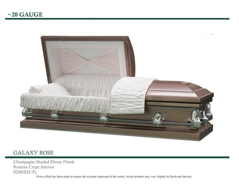 Rose Casket.  Our most affordable casket