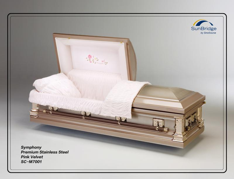 Symphony Premium Stainless Steel Casket