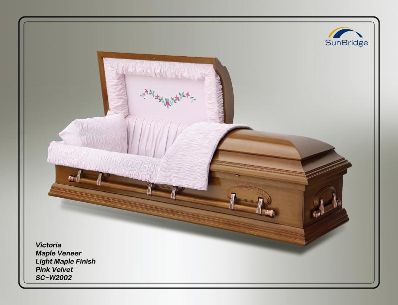maple veneer casket