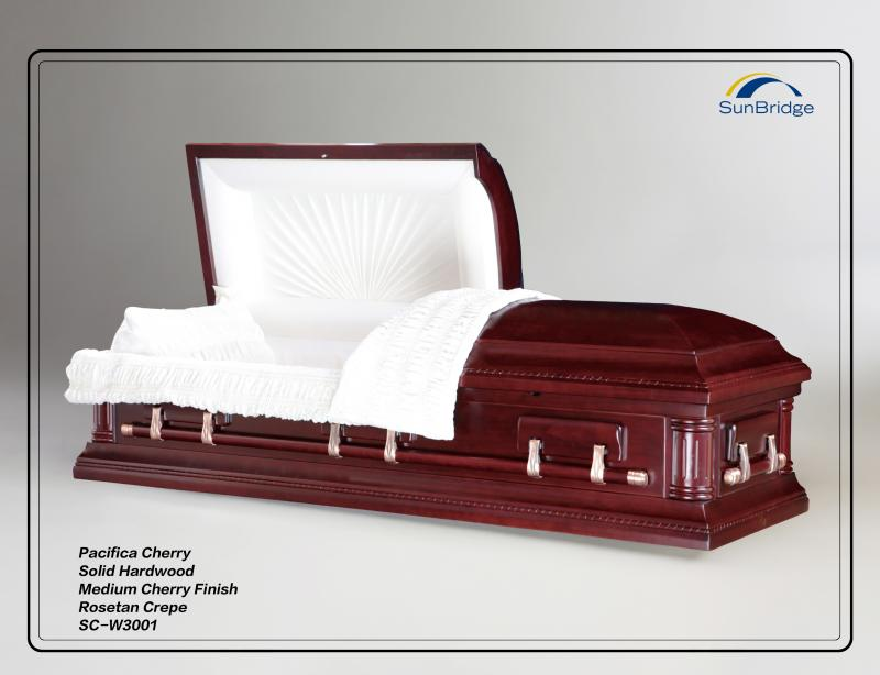 Pacifica Cherry Hardwood Casket