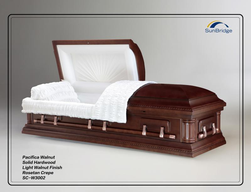 Walnut Solid Hardwood Casket
